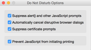 Do Not Disturb Options