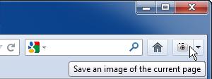 Page Saver : l'icone de la barre de menu de Firefox